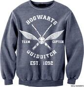 sweater,harry potter,bag,hog warts,quidditch,teenagers
