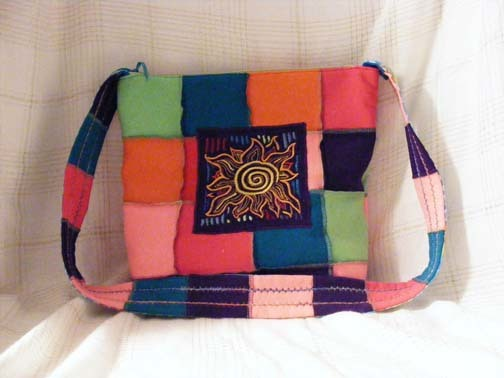 Messenger Bag made from Recycled T Shirts