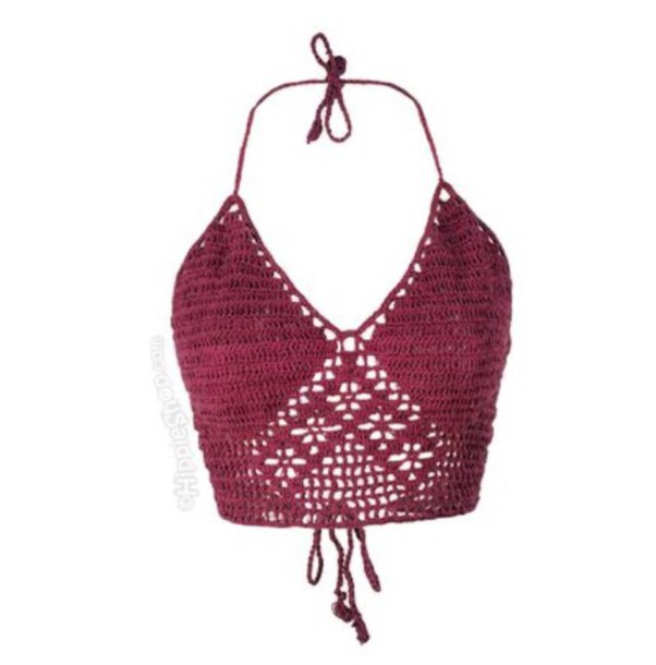 top crochet crop tops knit summer swimwear crochet bikini tank top