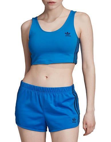 Adidas Originals Women's 3-Stripes Stretch Sports Bra - Bluebird - Size XS