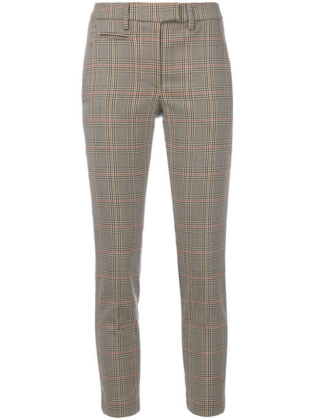 cropped women spandex plaid nude cotton print wool houndstooth pants