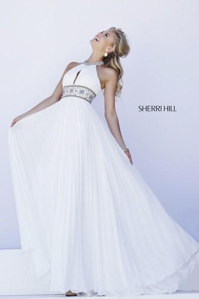 dress sherri hill prom dress white dress