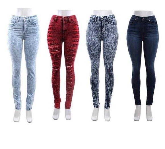 jeans distressed distressed jeans distressed high waisted jeans acid wash jeans red high waisted jeans