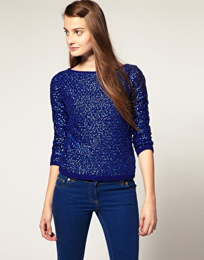 Asos maximal sequin sweater at asos