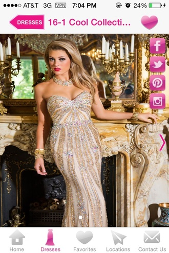 dress long prom dress prom dress jewels formal jewlrey