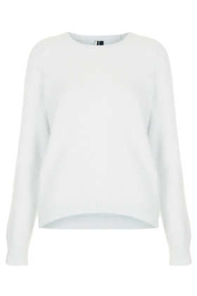 Knitted Fluffy Angora Jumper - Topshop