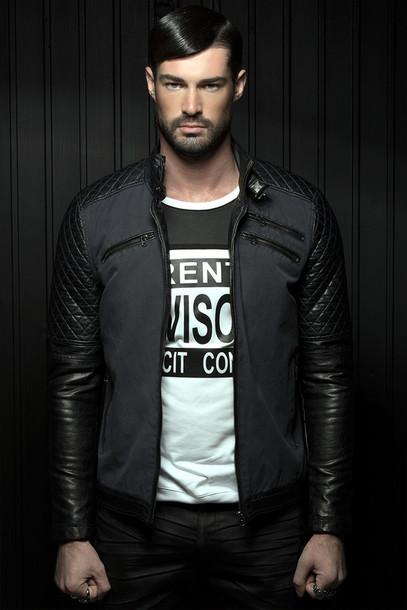jacket leather black leather jacket boys fashion menswear mens jacket mens leather jacket