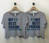 shirt,t-shirt,top,bff,b a r t a b a c,grey,grey t-shirt,matching set,matching shirts