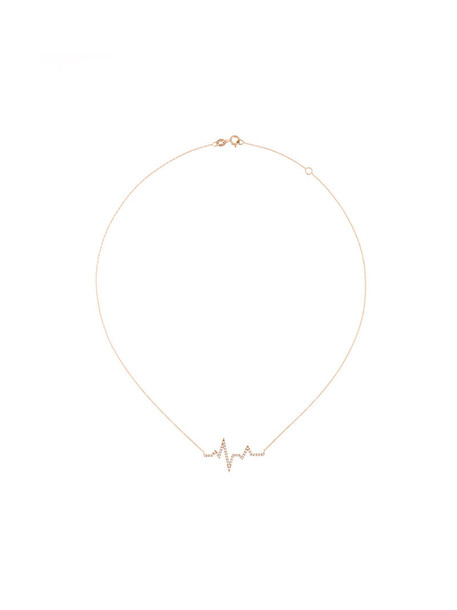 rose gold rose women necklace gold nude jewels