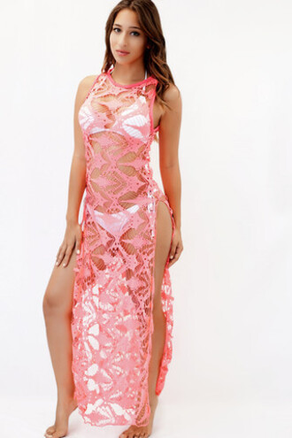 dress exclusive pink irgus cover up bikiniluxe
