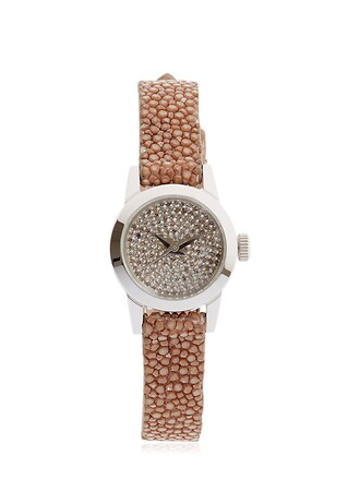 cute diamonds watch brown jewels