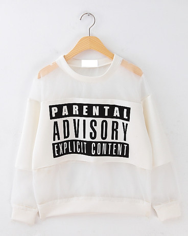 Rich fashion advisory explicit content pullover (2 colors available) – glamzelle