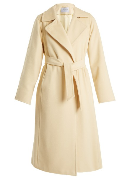 Max Mara coat light yellow