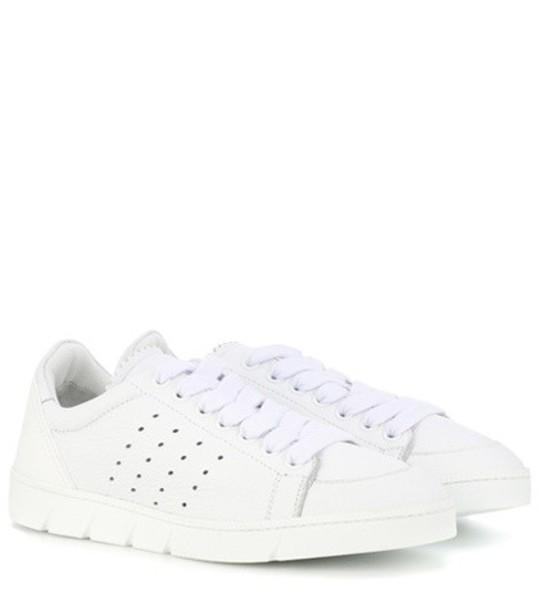 Loewe Leather sneakers in white