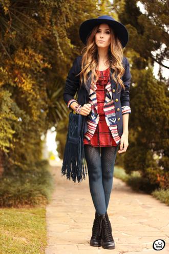 fashion coolture dress cardigan jacket bag jewels tights hat shoes