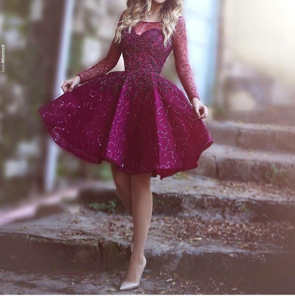 3216cde82854 dress wine red purple purple dress purple skater dress skater dress long  sleeve skater long sleeve