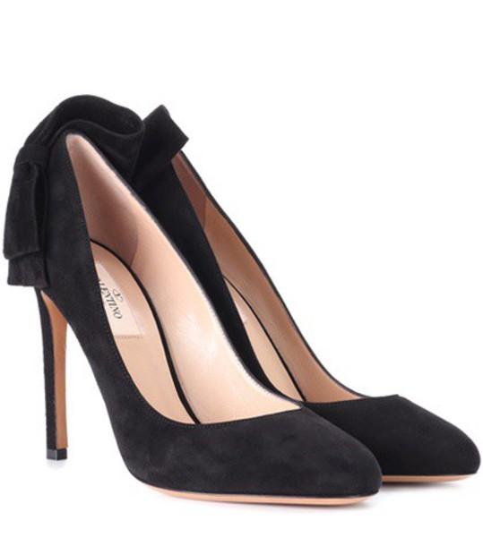 Valentino suede pumps pumps suede black shoes