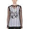 Destroyed viscose jersey top
