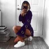 top,plt,velvet shorts,blue velvet,prettylittlething,matching set,velvet,babes in velvet,dark blue hoodie,matching shorts and top,style,fall outfits,chill,shorts,hoodie,cropped,cropped hoodie