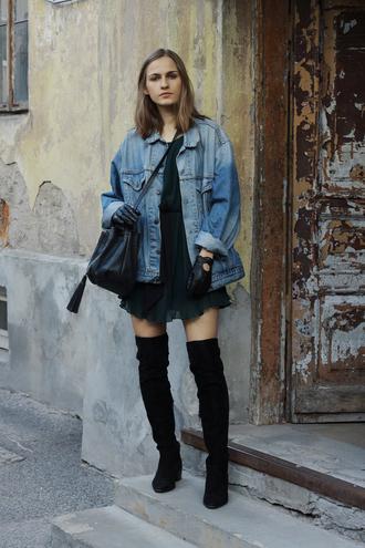 so in carmel blogger jacket dress shoes bag sunglasses gloves