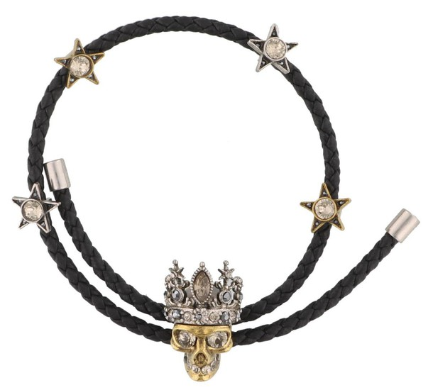 Alexander Mcqueen friendship bracelet black jewels