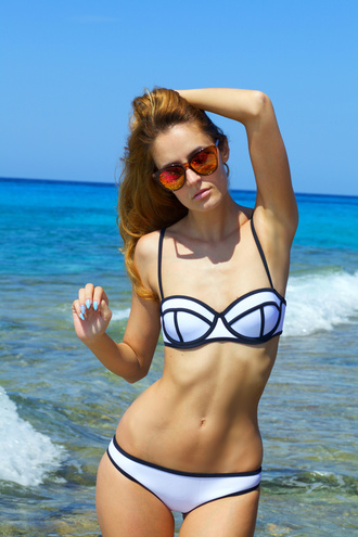 from brussels with love blogger swimwear white bikini neoprene bikini