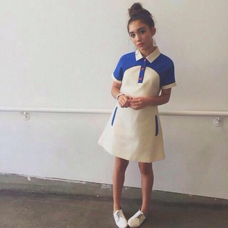 dress girl meets world disney shoes rowan blanchard sabrina carpenter short shorts short dress tv/movies worn on tv hairstyles hair accessory hair/makeup inspo style fashion trendy summer dress american apparel