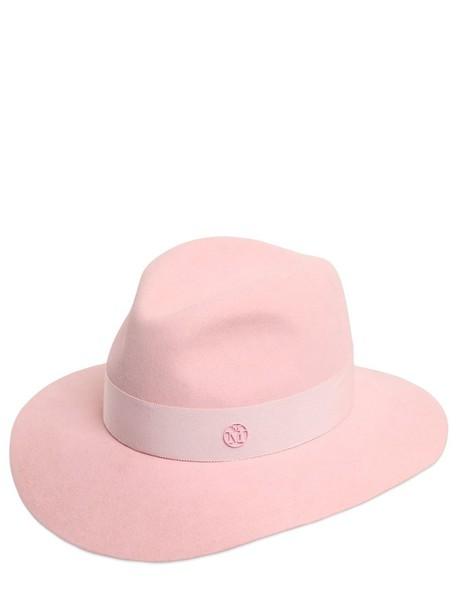 MAISON MICHEL Henrietta Rabbit Fur Felt Hat in pink