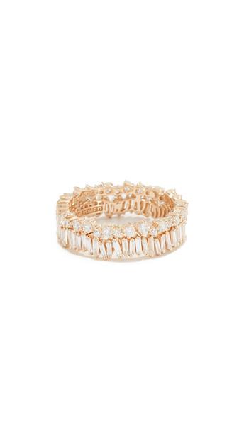 Suzanne Kalan Fireworks 18k Gold Diamond Double Band Ring