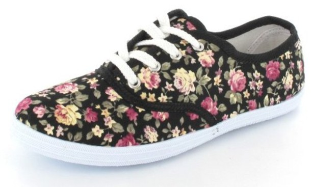 6734ba5154 shoes floral print shoes flats floral floral sneakers vans flowers colorful  summer outfits roses rose sneaker
