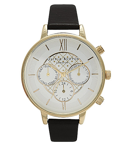 Ladies big dial chronograph watch