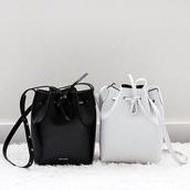 bag,black,white,black and white,rucksack,leather bag,bucket bag