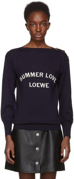 LOEWE sweater summer love navy