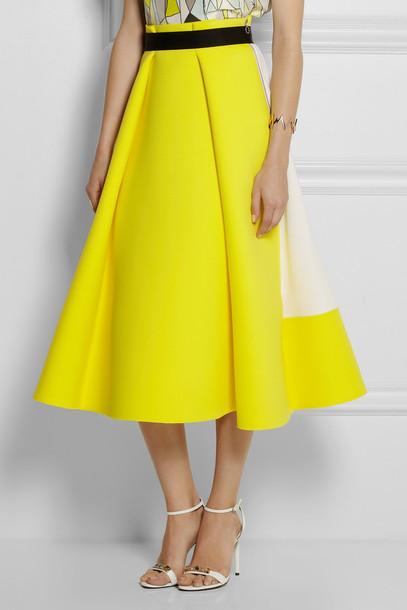 skirt roksanda ilincic midi skirt yellow yellow skirt