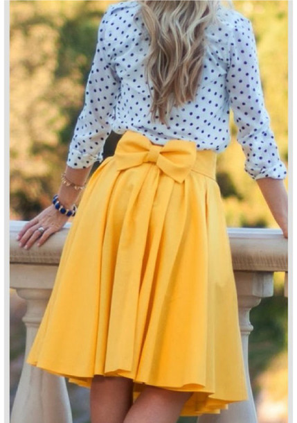 A Line Yellow Skirt - Dress Ala