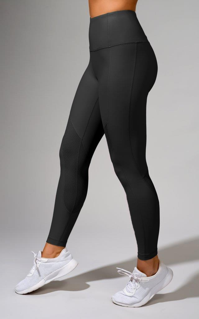 High Waist Perforated Ankle Legging