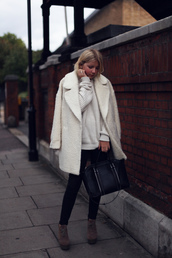 into the fold,coat,shoes,jeans,bag,sweater