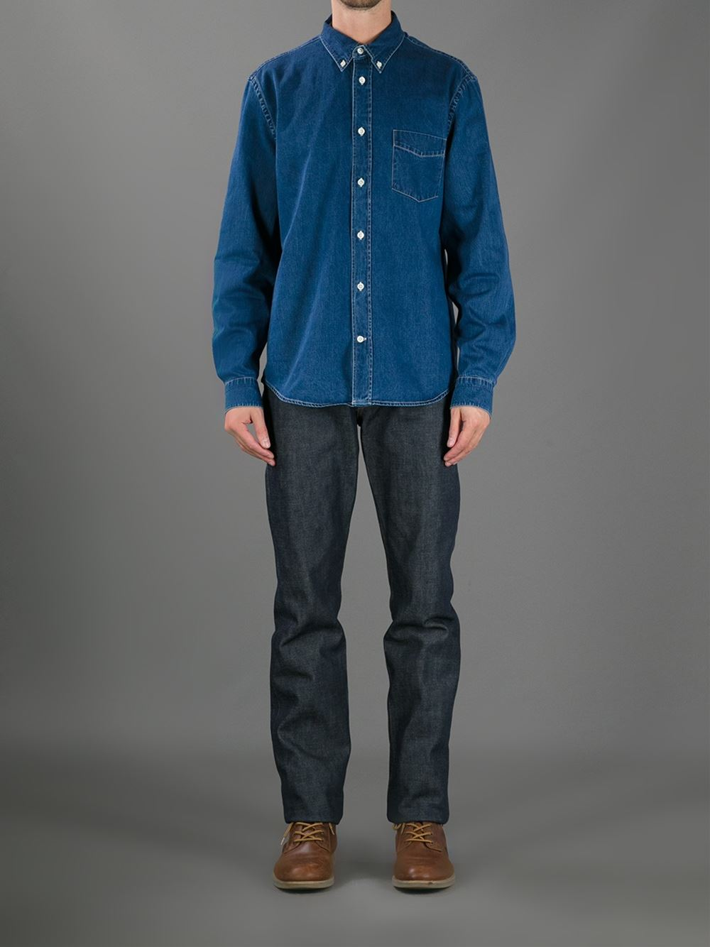 736a74737fe Acne Studios  isherwood  Denim Shirt - Sefton Men - Farfetch.com