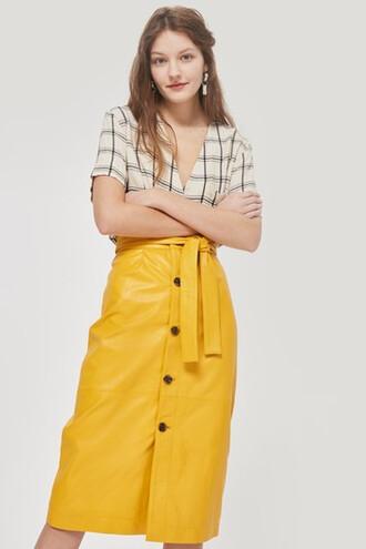 skirt midi skirt midi yellow