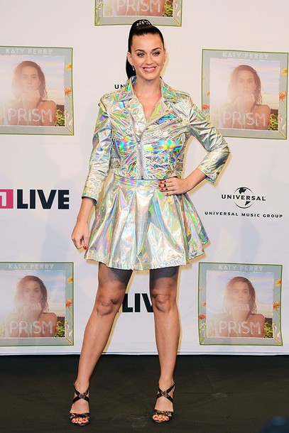 katy perry holographic top