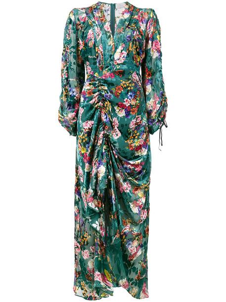 dress midi dress women midi opal floral print silk