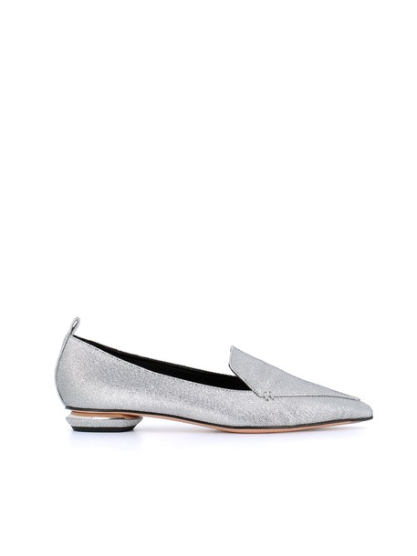 Nicholas Kirkwood loafers silver shoes