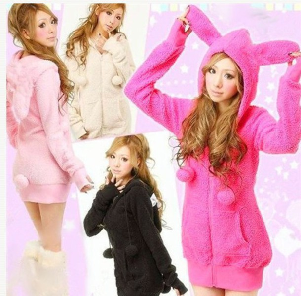 sweater bunny gyaru gyaru jfashion japanese fashion