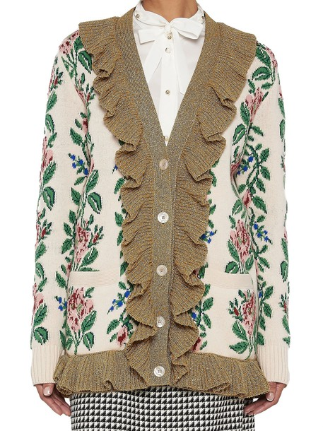 gucci cardigan cardigan multicolor sweater