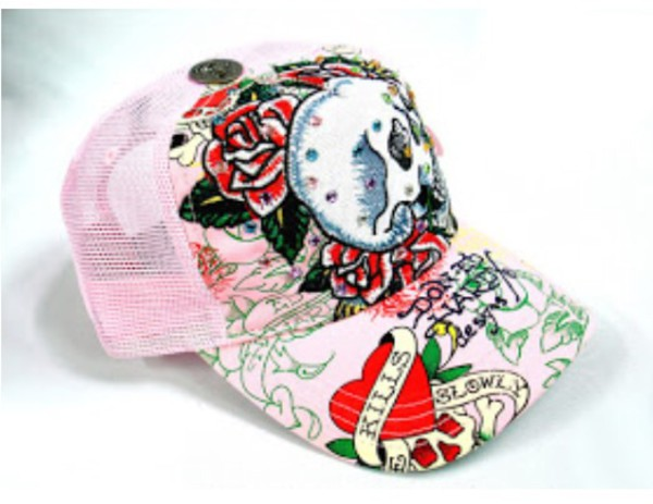 ed hardy cap pink