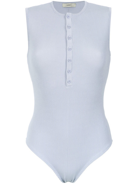 EGREY bodysuit women spandex blue underwear