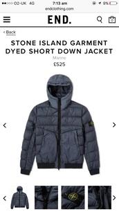coat,stone island navy coat
