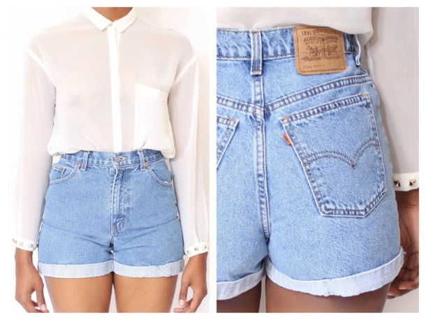 shorts High waisted shorts blouse