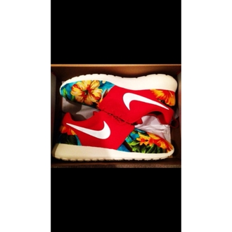 shoes hawaiian floral nike roshe