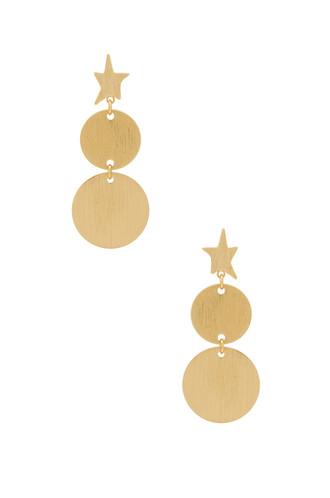 girl earrings metallic gold jewels